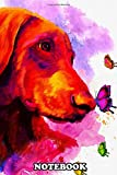Notebook: Doberman Water Color Art 2 Poster Decor , Journal for Writing, College Ruled Size 6' x 9', 110 Pages