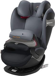Cybex - Silla de coche grupo 1/2/3 Pallas S-Fix, silla de coche 2 en 1 para niños, para coches con y sin ISOFIX, 9-36 kg, desde los 9 meses hasta los 12 años aprox.Pepper Black