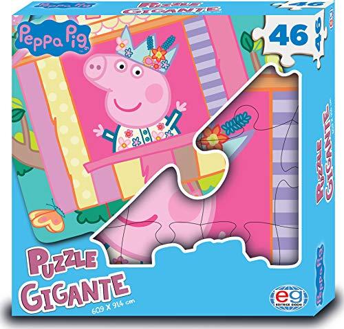 Peppa Pig 1 Puzzle Gigante e Personalizzato, da 46 Pezzi Studiato per le Piccole Mani dei Bambini, dai 4 Anni - 6056257