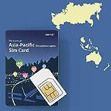 Prepaid-SIM-Karte für Thailand, Singapur, Malaysia - Unbegrenzt / 14 Tage, Asien-Pazifik 14 GMYLE 4G LTE 3G-Reisedaten, Online-Support Aufladen (Keine Nachricht und kein Anruf, entsperrtes Telefon)
