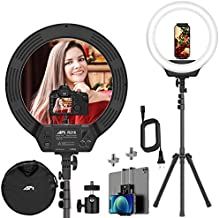 AFI 16'' Led Ring Light with Stand, 3200-6500K Ring Light for Video Shooting Photography Makeup Professional Light for Cameras Webcams and Cellphones Compatible with iPhone & Android & DSLR