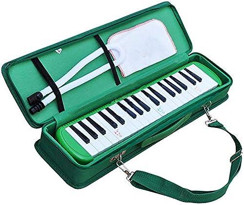 P gogische tragbare 37 Tasten Melodica Instrument Piano Style Full Sets mit Tragetasche Riemen Doppel 2 MundStücke Tube Musical Geschenk Spielzeug für Kinder Anf er Studenten für Musikliebhaber An