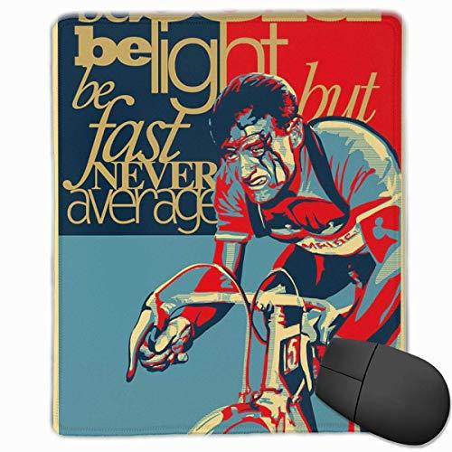 Gaming Mouse Pad, personalisierte benutzerdefinierte Maus Padnon-Slip Gummi Gaming Mouse Pad, bleiben Sie positiv, arbeiten Sie hart und machen Sie es hart wie Nägel-Vintage-Cycling-Poster