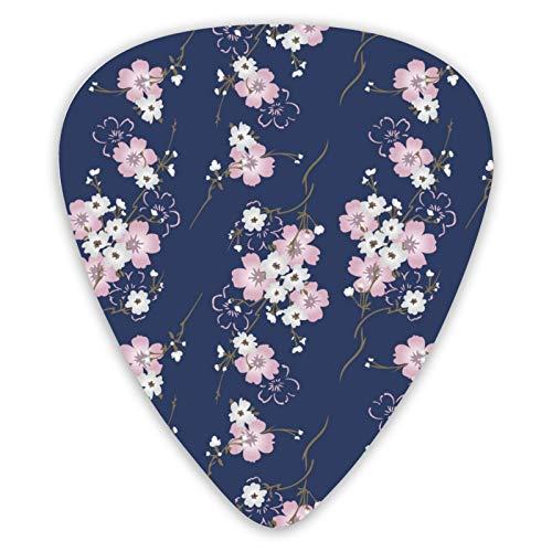 Púas japonesas Cherry Blosssom Bouquet Premium (paquete de 12) para guitarra eléctrica,...