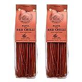 ANTICO PASTIFICIO MORELLI 1860 PASTA AL GERME DI GRANO Morelli - Linguine Pasta with Red Chili, Made in Italy - 8.8oz (250g) - pack of 2