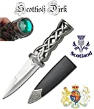www.mysticalblades.com 9' Thor's Hammer Twisted Steel Celtic Sgian Dubh Scottish Dirk Wedding Athame Dagger with Red Ruby