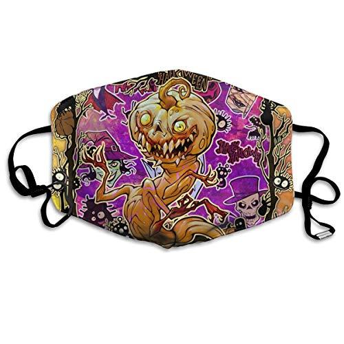 Houity Stofdicht Wasbaar Masker, Halloween Phantom Plant Pompoen Monster, Zacht, Ademend, Wasbaar, Knop Verstelbaar Masker, Geschikt voor Mannen En Dames Maskers