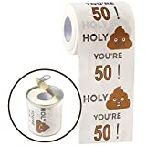 Happy 50th Birthday Gifts for Women and Men | 3-Ply Funny Toilet Paper Roll | 50th Birthday Toilet Paper | Gag Funny Birthday Gift | Toilet Paper Novelty for 50 Birthday Party Decorations