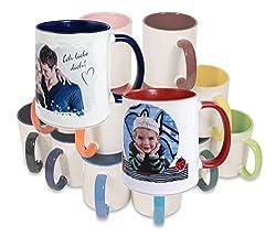 Tasse personalisierbar mit eigenem Foto und Text - Fototasse in 9 Farben (kobaltblau)