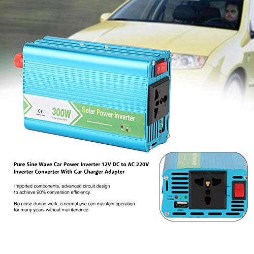Great Deal! Nannday Car Power Inverter, Vehicle Adapter Pure Sine Wave Car Power Inverter 12V DC to ...