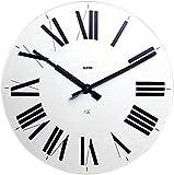 Alessi 12W Firenze Orologio da Parete in ABS, Movimento al Quarzo, Bianco, bianco/nero