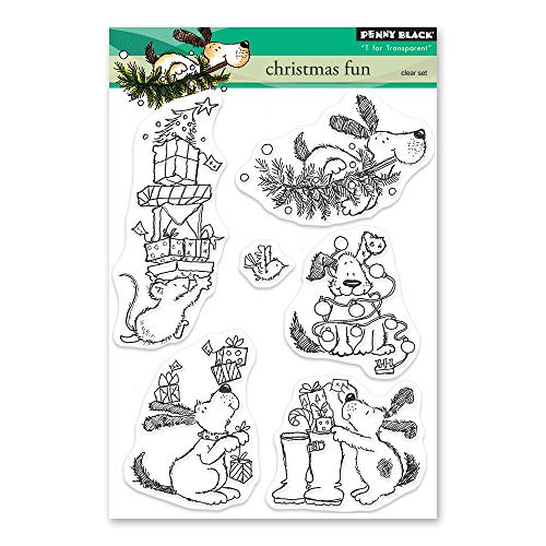 Penny Black Christmas Fun Clear Unmounted Rubber Stamp (30-509)
