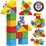 Magnetic Blocks Set for Kids ,30pcs Educational Blocks with Shapes, Colorful Stacking Blocks – BPA Free