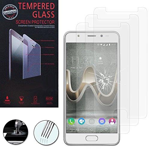 VComp-Shop® 3x Hochwertige gehärtete Panzerglasfolie für Wiko U Feel Prime 5.0