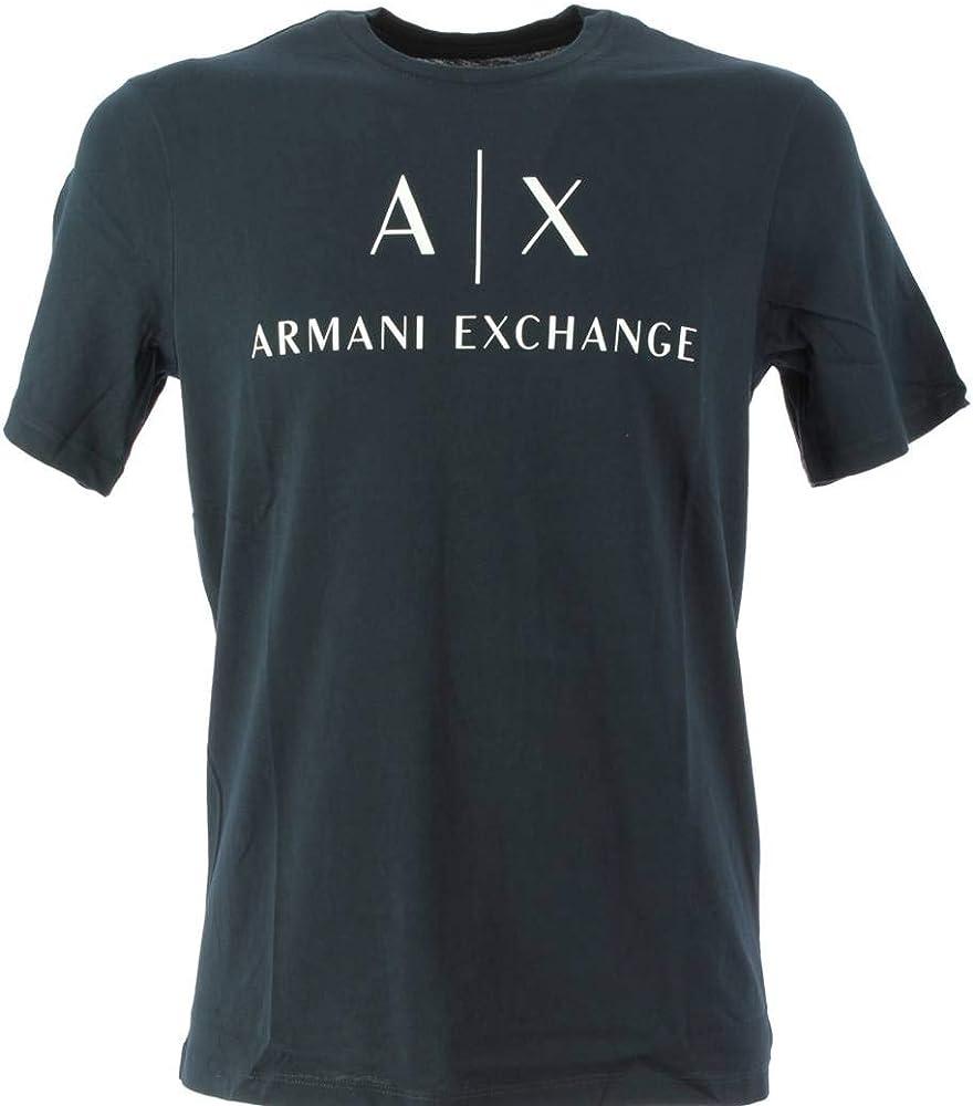 Armani exchange, t-shirt,maglietta  per uomo,maniche corte,100% cotone