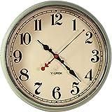 GRENSS Reloj de pared americano de metal vintage mecanismo reloj de sala de estar luz creativa reloj de pared Relogio decoración del hogar FZ53-Style_Other
