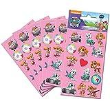 Paper Projects 9107076 Paw Patrol - Juego de pegatinas (6 hojas),...