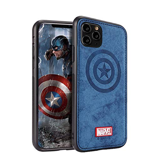 Case for iPhone 12 Pro Max with Avengers Character - Captain America, Blue