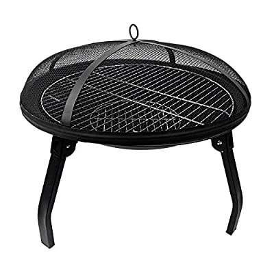 DASF Portable Outdoor Brazier Fire Pit Fire Bowl Camping BBQ for Garden,Patio(21.65 * 21.65 * 16.9 inches) by DASF