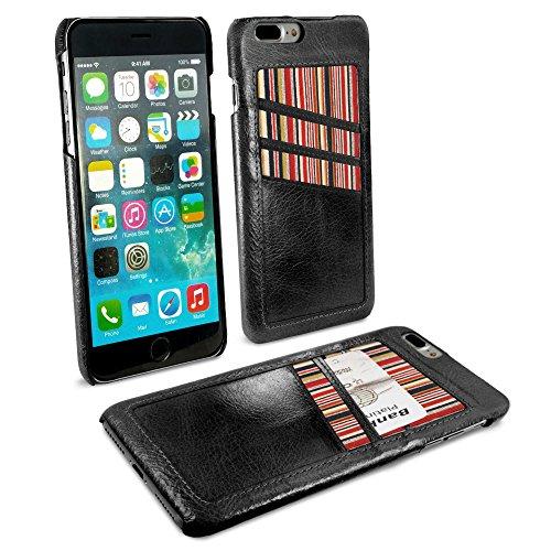 Nadakin Apple iPhone 8 Coque PU Cuir Flip Housse /Étui Cover Case Poche Wallet Portefeuille Supporter avec Carte de Cr/édit Fentes pour Apple iPhone 8 Noir