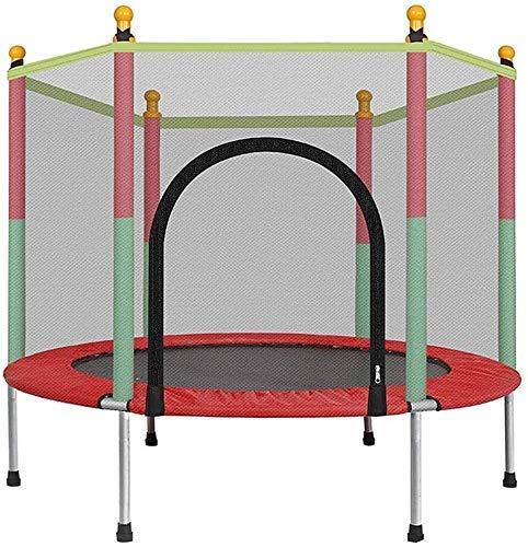 LuoMei Große Kinder Trampolin Outdoor Kinder 140Cm Indoor Trampolin mit Schutznetz Erwachsene Kinder Springbett Outdoor Trampoline Übungsbett Fitnessgeräte