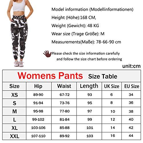 Fanient Pantaloni da Donna Le Donne combattono i Pantaloni Tattici dei Pantaloni a Vita Alta Harem Pantaloni Multi Tasche dei Pantaloni Casuali di Combattimento dei Pantaloni Casuali con la Cinghia