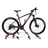 VictorySport Rullo Alluminio per Bici Rampa - Rullo Pieghevole per Allenamento per Bicicletta per Allenamento in casa