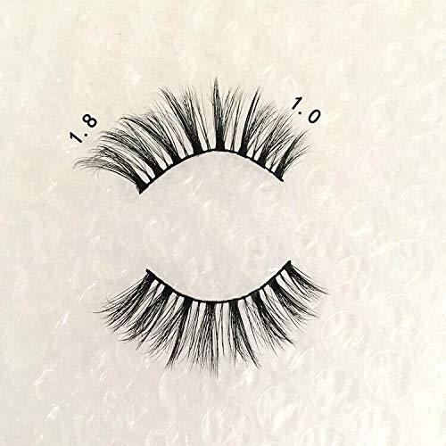 Vivien Mink Lashes 5D 7 Pairs Faux Mink Eyelashes Handmade Volume Fluffy Natural Look False Eyelashes 18mm Eyelashes Style B05 3