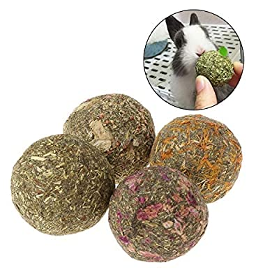 2pcs Pets Teeth Grinding Balls Natural Snack Treats Grass Toys For Guniea Pig Rabbits Chinchilla Chasing Playing Chewing Toy from Clara Tracy