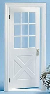 Chrysnbon人形の家ホワイト木目調植民地時代のクロスバックドアモデルキット2529