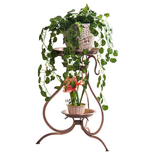 LYM & Pot Rack Support de Fleur Support de Fleur en Fer forgé Support de Pot sur Pied en Multicouche Pots à Fleurs décoratifs