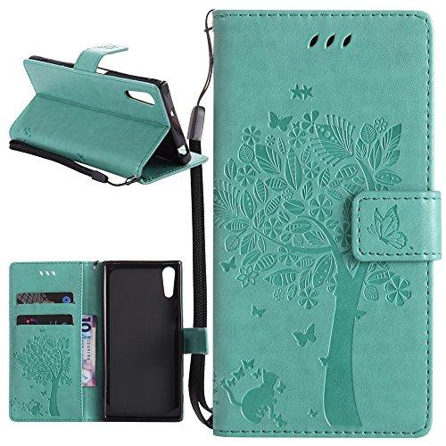 Dooki,Sony Xperia XZ / Xperia XZs Hülle, Ständer Brieftasche Flip PU Ledertasche Schutzhülle für Sony Xperia XZ / Xperia XZs mit Kredit Kartenfächer (D-10)