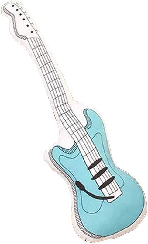 Peiji Cushion Pillow Fashion Stuffed Plush Toy Guitar Pillow Guitar Toys Blue 60cm 23 62