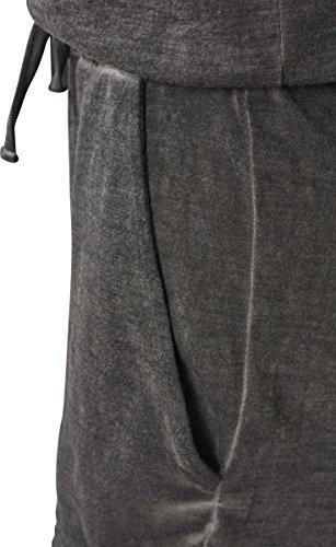 Urban Classics Damen Jumpsuit Ladies Cold Dye Short, Grau (Grey 00111) - 4