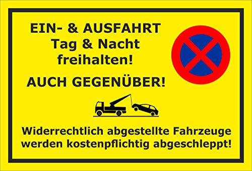 Melis Folienwerkstatt Schild - auch gegenüber - 30x20cm | Bohrlöcher | 3mm Hartschaum - S00020-O-C -20 Varianten