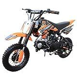 110cc Dirt Bike Pit Bike Mini Gas Dirt Bike Kids Youth Dirt Bike Pit Bike 110cc Gas Dirt Pitbike,Orange