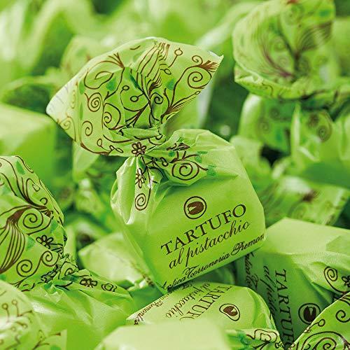 Tartufi al Pistacchio g 500 Antica Torroneria Piemontese - Senza Glutine - Ricetta con Pistacchi selezionati e cioccolato bianco di pregio, eccellenza del gusto Made in Italy