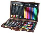 ISO TRADE Malset Koffer Mega-Set 81 Einzelteile im Koffer Künstler Maler Kreative Kunst 6072