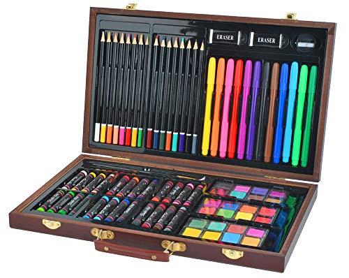 ISO TRADE Set di valigie da colorare Mega, set da 81 pezzi in valigetta, artisti, pittore, arte creativa, 6072