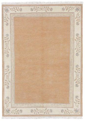 Luxor Living Nepal Teppich handgeknüpft apricot Größe auswählen 120 x 180 cm