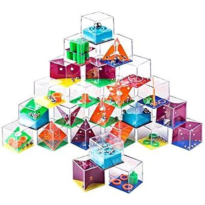 24pcs Maze Puzzle Labyrinth Box Brain Teaser IQ...