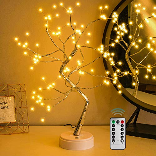 """WeLove_1 Upgraded Fairy Sparkly DIY Tree Lamp with Multifunction Remote Control, Spirit Artificial Bonsai Tree Night Lights, for Lighting Bedrooms Desktop Christmas Party (20""""/108 Warm White Led)"""