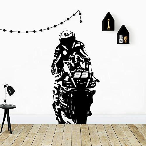 Mode Wandaufkleber Motorrad Aufkleber Vinyl Aufkleber für Kinderzimmer Dekor Wandtattoo Wohnzimmer Tapete Aufkleber Dekor A9 L 43cm X 82cm