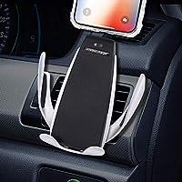 Cargador inalámbrico para automóvil, rotación de 360 ° del soporte del teléfono, compatible con Galaxy s6 a s9, compatible con iPhone 8 a 11 pro Max y otros teléfonos móviles con carga inalámbrica