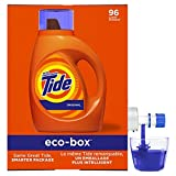 Tide Laundry Detergent Liquid Eco-Box, Concentrated,...