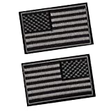 American Flag Patch Tactical Military Flag Patches Decorative Emblem Patches Multitan-Reverse Black