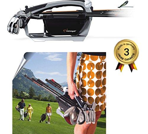Calenberger Trading GmbH Manusgolf (Schwarz),revolutionäre Golfbag, Golftasche für den Golfer mit nur 800g Eigengewicht