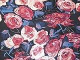 Minerva Crafts Chiffonstoff, bedruckt, Meterware, Pink