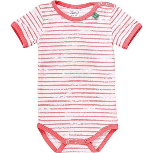 Fred'S World By Green Cotton Ocean Stripe S/s Body, Multicolore (Coral 016164001), 86 Bébé Fille