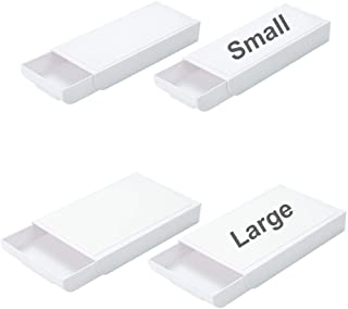 4 Pieces Small+Large Self-Adhesive Drawer Bookshelf Desk Organizer Tray Hidden Sticky Under Desktop Pop-up Pencil Storage ...